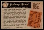 1955 Bowman #117  Johnny Groth  Back Thumbnail