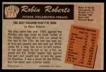 1955 Bowman #171  Robin Roberts  Back Thumbnail