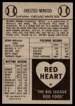 1954 Red Heart  Minnie Minoso  Back Thumbnail
