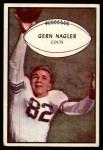 1953 Bowman #54  Gern Nagler  Front Thumbnail