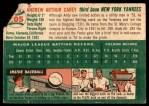 1954 Topps #105  Andy Carey  Back Thumbnail