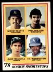 1978 Topps #707   -  Paul Molitor / Alan Trammell / Mickey Klutts / UL Washington Rookie Shortstops Front Thumbnail