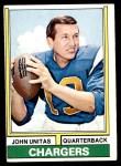 1974 Topps #150  Johnny Unitas  Front Thumbnail