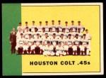 1963 Topps #312   Colt 45s Team Front Thumbnail