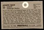 1952 Bowman Large #53  Joseph Back  Back Thumbnail