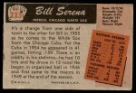 1955 Bowman #233  Bill Serena  Back Thumbnail