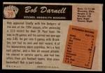 1955 Bowman #39  Bob Darnell  Back Thumbnail