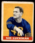 1948 Leaf #1  Sid Luckman  Front Thumbnail