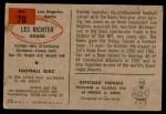 1954 Bowman #78  Les Richter  Back Thumbnail