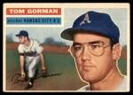 1956 Topps #246  Tom Gorman  Front Thumbnail