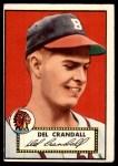 1952 Topps #162 CRM Del Crandall  Front Thumbnail