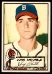 1952 Topps #140 CRM Johnny Antonelli  Front Thumbnail