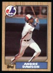 1987 Topps #345  Andre Dawson  Front Thumbnail