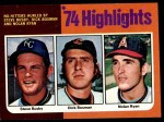 1975 Topps #7   -  Nolan Ryan / Steve Busby / Dick Bosman No-Hitters Hurled Front Thumbnail