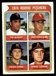 1974 Topps #605   -  Frank Tanana / Vic Albury / Ken Frailing / Kevin Kobel Rookie Pitchers  Front Thumbnail