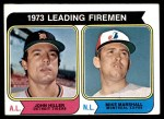 1974 Topps #208   -  John Hiller / Mike Marshall Leading Firemen   Front Thumbnail