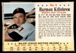 1963 Post #5  Harmon Killebrew  Front Thumbnail