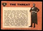 1966 Topps Superman #10   The Threat Back Thumbnail