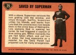 1966 Topps Superman #25   Saved by Superman Back Thumbnail