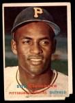 1957 Topps #76  Roberto Clemente  Front Thumbnail