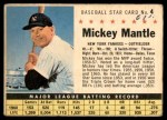 1961 Post #4 BOX Mickey Mantle   Front Thumbnail