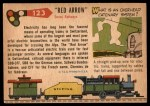 1955 Topps Rails & Sails #123   Red Arrow Express Back Thumbnail