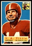 1956 Topps #86  Y.A. Tittle  Front Thumbnail