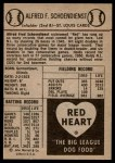 1954 Red Heart  Red Schoendienst    Back Thumbnail