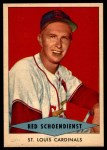 1954 Red Heart  Red Schoendienst    Front Thumbnail