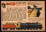 1955 Topps Rails & Sails #122   Steam Locomotive Back Thumbnail