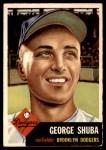 1953 Topps #34  George Shuba  Front Thumbnail