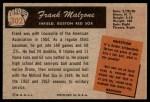 1955 Bowman #302  Frank Malzone  Back Thumbnail
