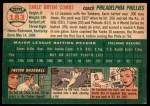 1954 Topps #183  Earle Combs  Back Thumbnail