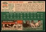 1954 Topps #244  Leroy Wheat  Back Thumbnail