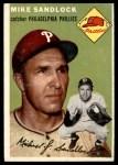 1954 Topps #104  Mike Sandlock  Front Thumbnail