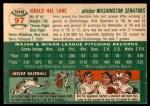 1954 Topps Archives #97  Jerry Lane  Back Thumbnail