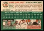 1954 Topps #106  Dick Kokos  Back Thumbnail