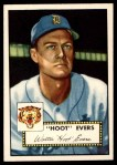 1952 Topps #222  Hoot Evers  Front Thumbnail