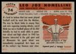 1956 Topps #74  Leo Nomellini  Back Thumbnail