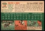 1954 Topps #18  Walt Dropo  Back Thumbnail