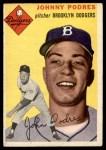 1954 Topps #166  Johnny Podres  Front Thumbnail