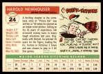 1955 Topps #24  Hal Newhouser  Back Thumbnail