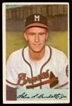 1954 Bowman #192  Lew Burdette  Front Thumbnail