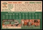 1954 Topps #71  Frank Smith  Back Thumbnail