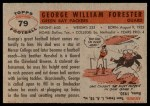 1956 Topps #79  Bill Forester  Back Thumbnail