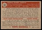 1952 Topps #282  Birdie Tebbetts  Back Thumbnail