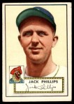 1952 Topps #240  Jack Phillips  Front Thumbnail