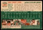 1954 Topps #103  Jim Lemon  Back Thumbnail