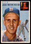 1954 Topps #221  Dick Brodowski  Front Thumbnail