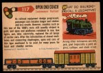 1955 Topps Rails & Sails #117   Open End Coach Back Thumbnail